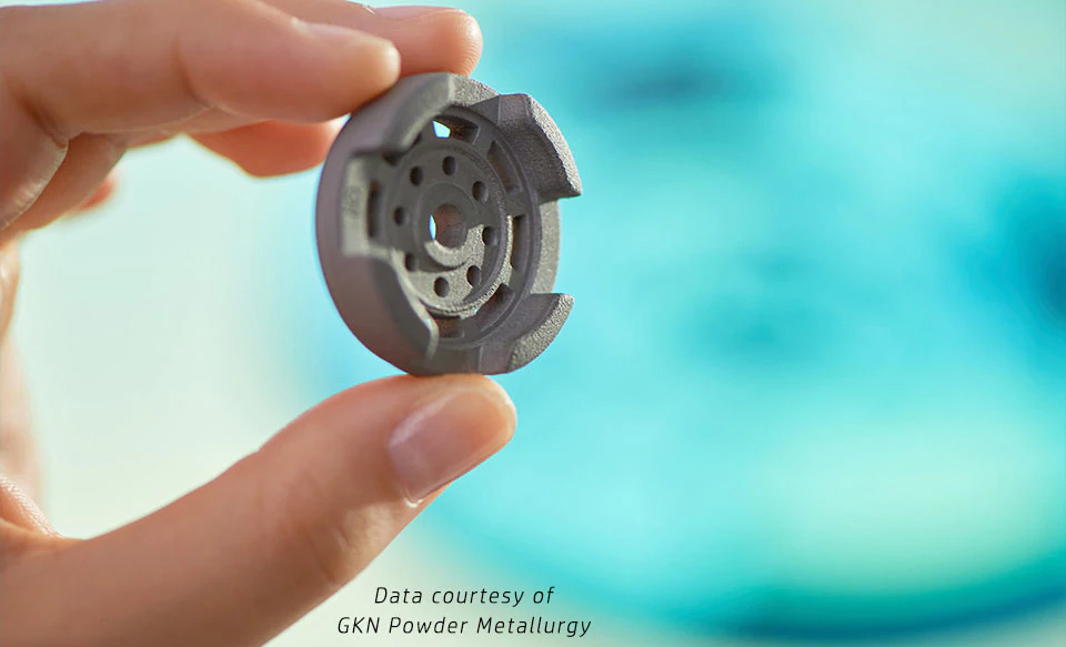 HP Metal Jet 3D Printed Part, Courtesy of GKN Powder Metallurgy