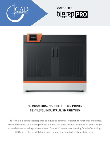 Brochure: BigRep PRO 3D Printer