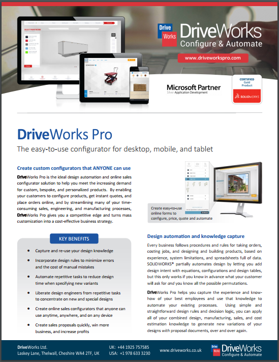 DriveWorks Data Sheet