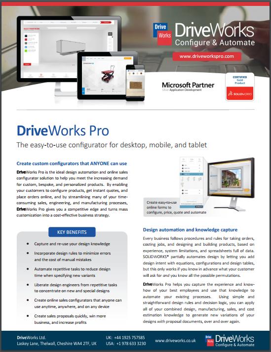 DriveWorks Data Sheet