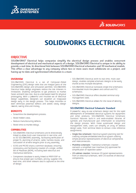 SOLIDWORKS ELECTRICAL 2018