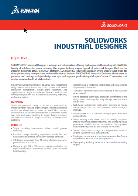 SOLIDWORKS Industrial Designer 2018