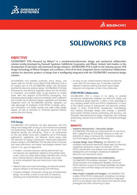 SOLIDWORKS PCB 2018