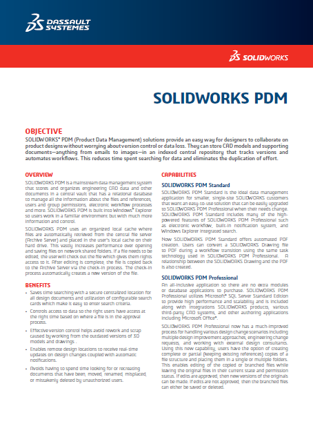 SOLIDWORKS PDM 2018