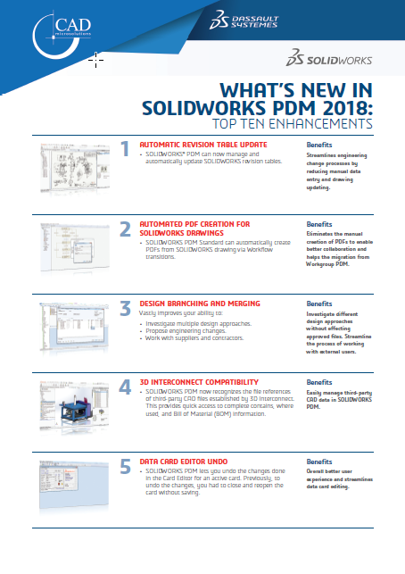 What's New in SOLIDWORKS PDM 2018