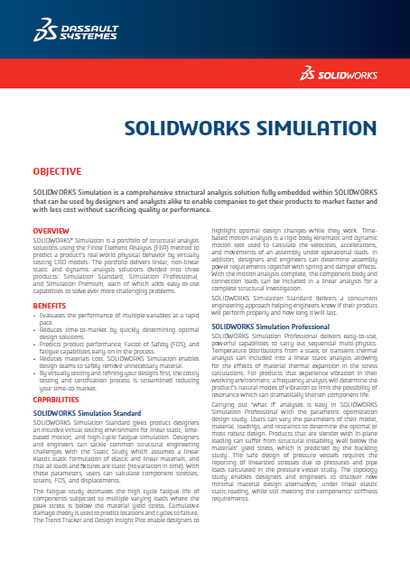 SolidWorks Simulation 2018