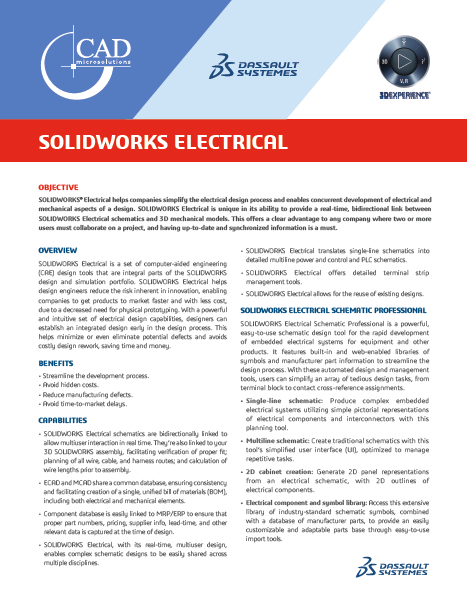 SOLIDWORKS ECAD Data Sheet