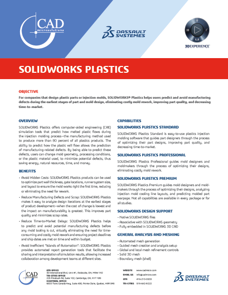 SOLIDWORKS Plastics Data Sheet