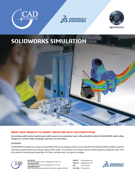SOLIDWORKS Flow Simulation Data Sheet