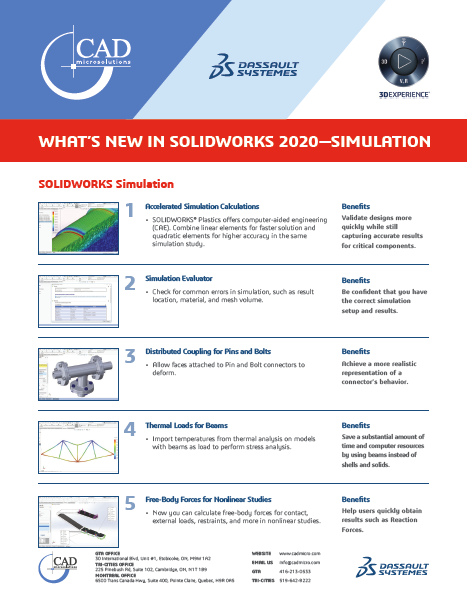 What's new in SOLIDWORKS Simulation 2020