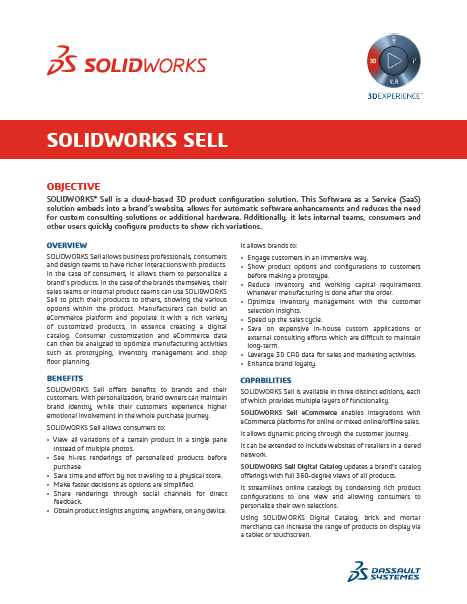 SOLIDWORKS SELL Premium Data Sheet