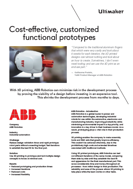 Ultimaker ABB Robotics Case Study