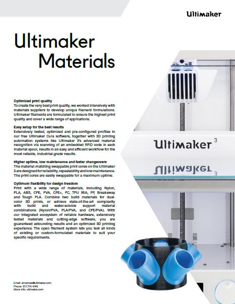 Ultimaker Material Datasheet