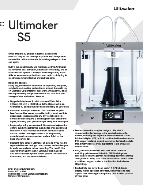 Ultimaker S5 Datasheet
