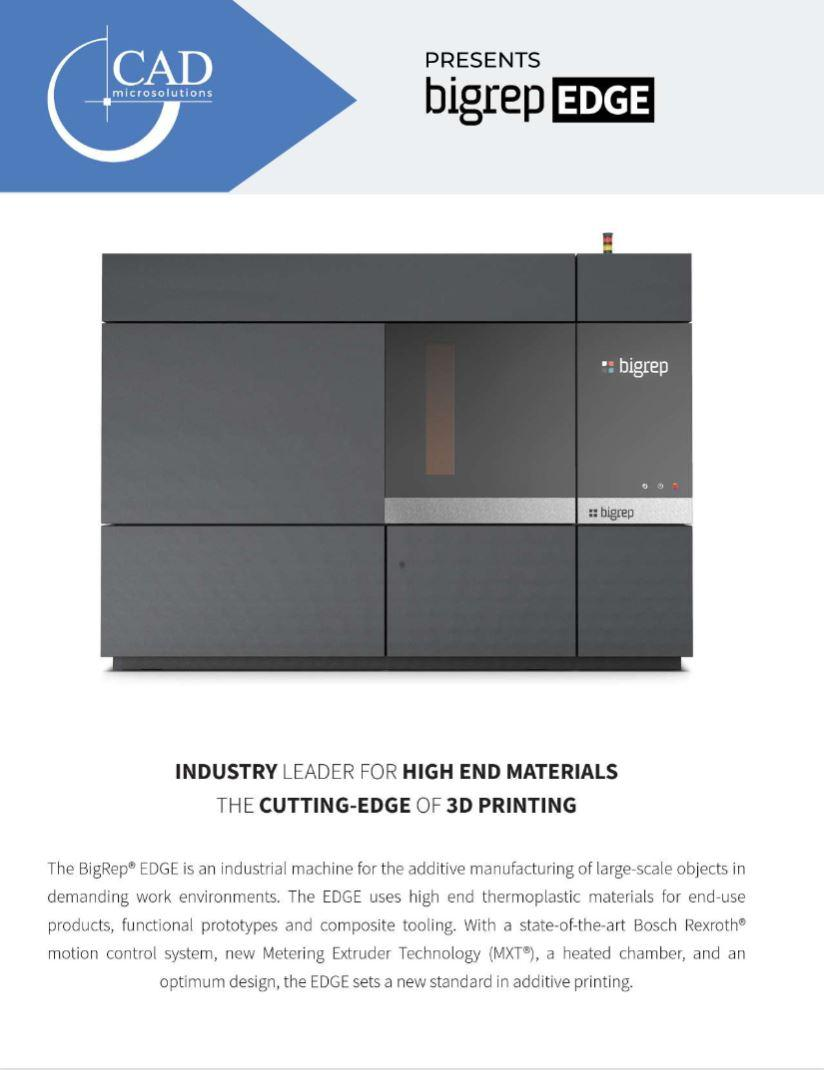 Brochure: BigRep EDGE 3D Printer