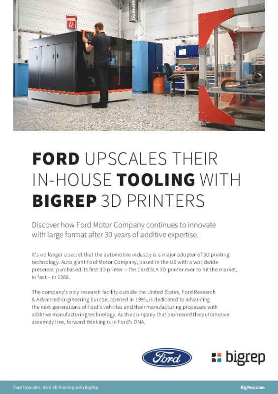 Case Study: Ford Upscales Their In-House Tooling with BigRep 3D Printers