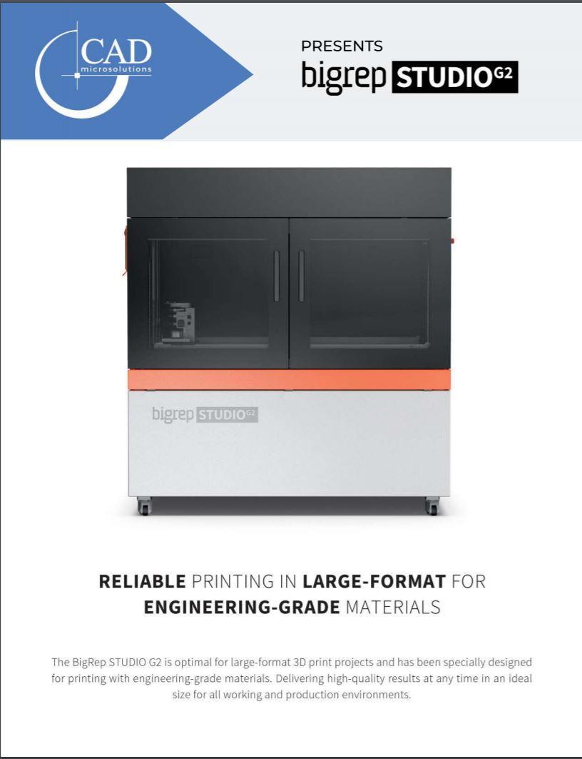 Brochure: BigRep STUDIO 3D Printer