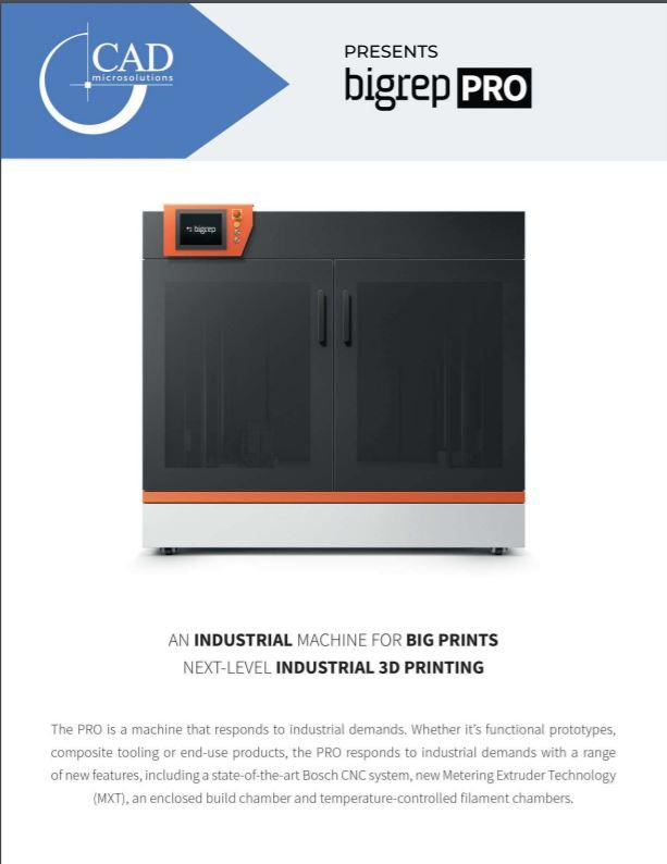Brochure: BigRep PRO 3D Printer