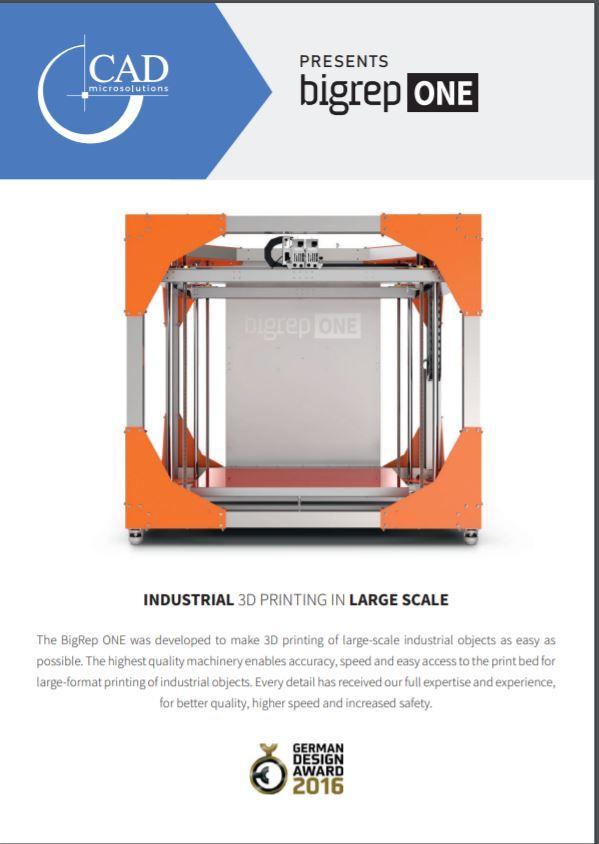 Brochure: BigRep ONE 3D Printer